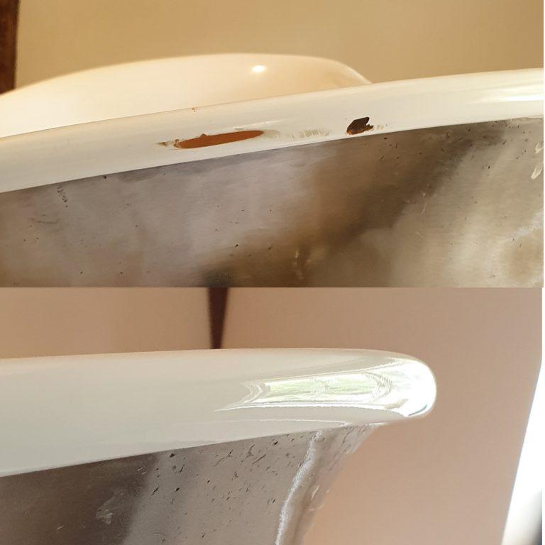 Bath repair cast iron freestanding