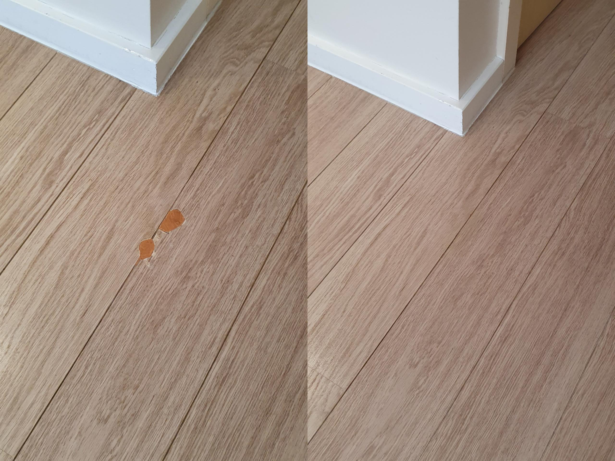 Laminate floor repair before and after