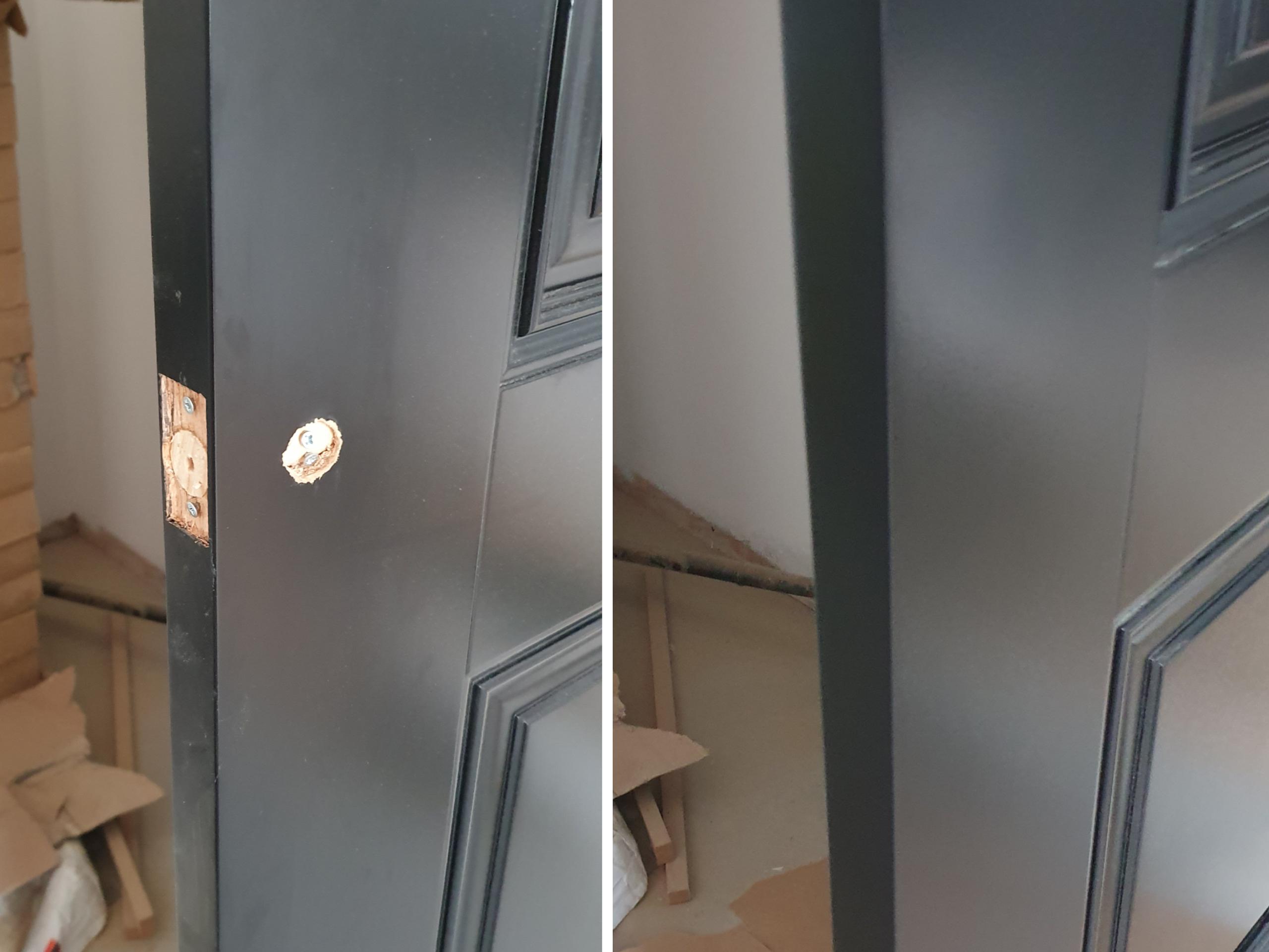 Black internal door repair