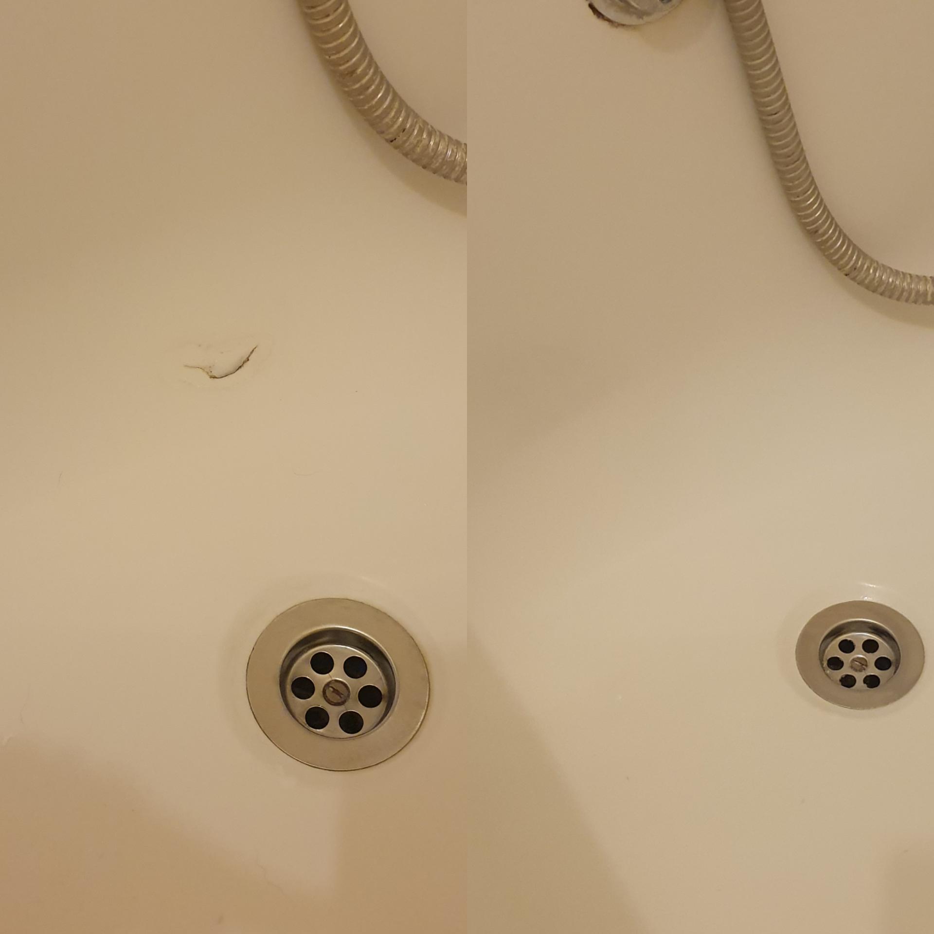 Crack to Plastic bath